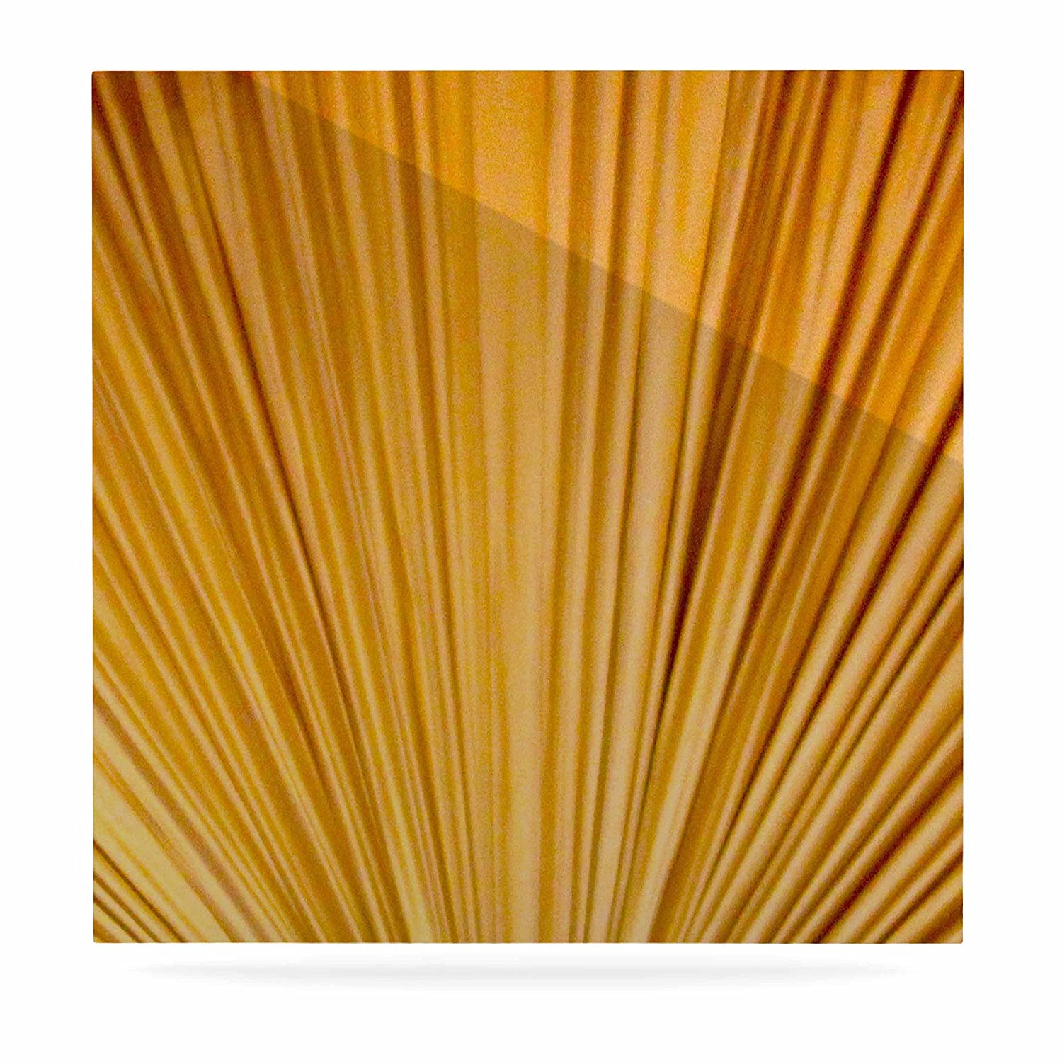 8 by 8 Kess InHouse Philip Brown Golden Curtains Orange Abstract Luxe Square Panel 8 by 8