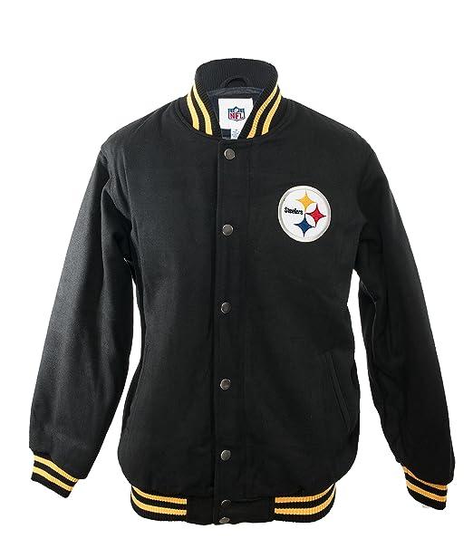 new concept 65fcb df2de NFL Pittsburgh Steelers Winter Wool Jacket - Black - XX ...