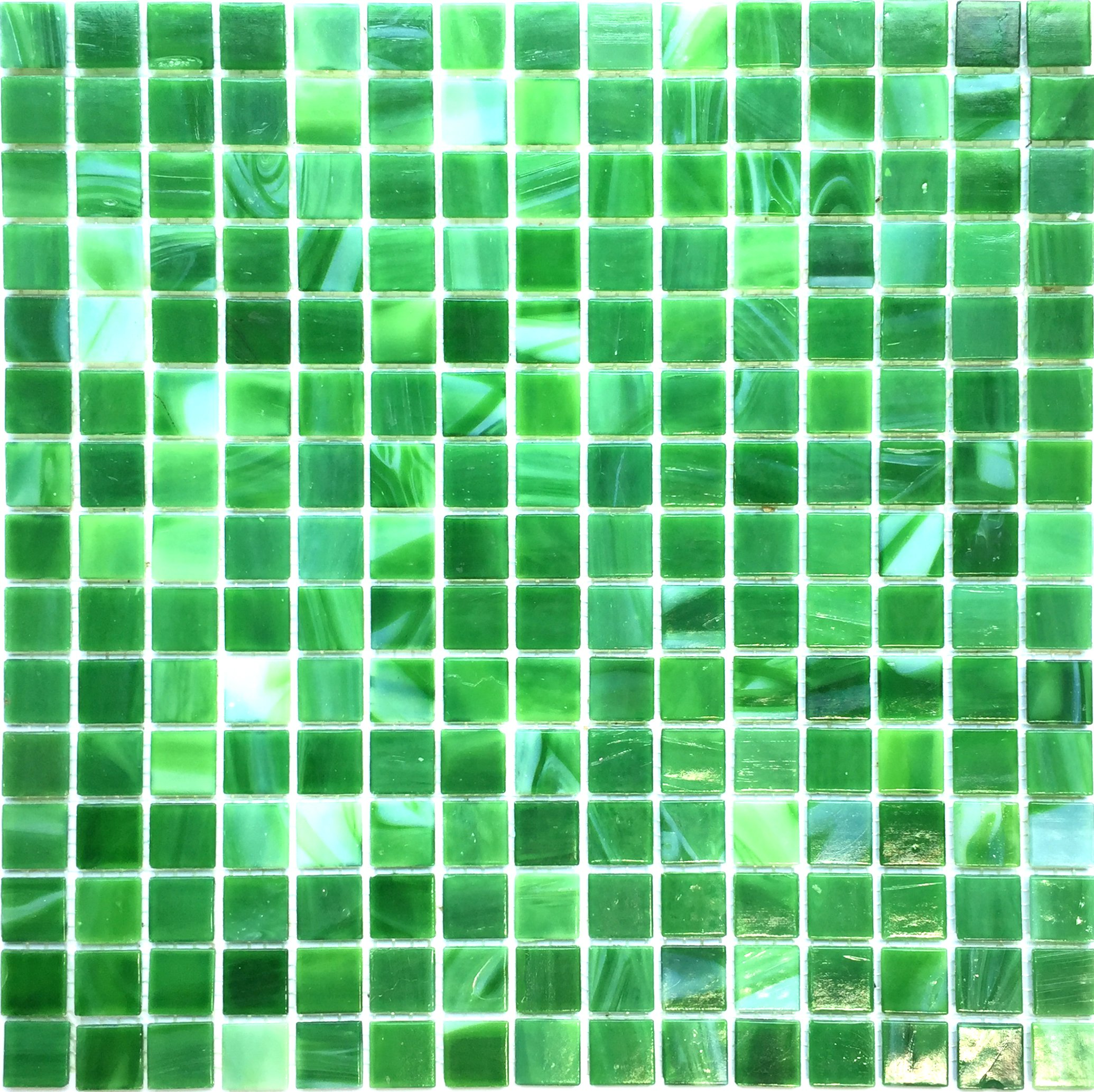 Hometile Mosaic Glass Mosaic Tile/backsplash Tile for Kitchen/Sticker Tile/Bathroom Tile/Kitchen Tiles for Wall,Mosaic Tiles (10sheet, Green)