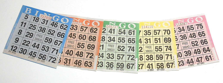 卸し売り購入 1000 5 Bingo Paper Cards (200 Books (200 5 American Colors Ea!) by American Games B00NQP1WKS, イケダグリーンセンター:e86cc223 --- vietnox.com