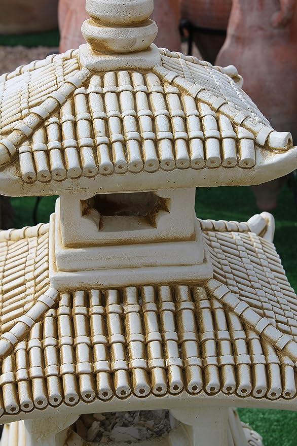 DEGARDEN Figura Decorativa Pagoda Oriental de hormigón-Piedra para jardín o Exterior 52cm.Ocre: Amazon.es: Jardín