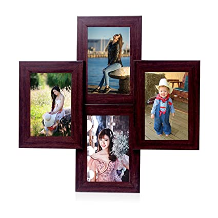 Buy WENS 4-Picture MDF Photo Frame (20 inch x 16 inch, Brown) Online ...