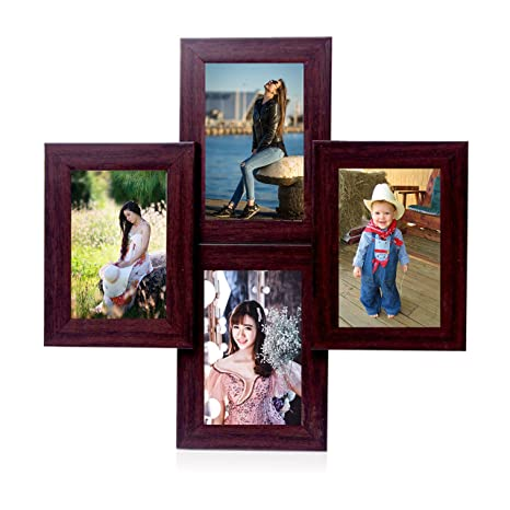 Wens 4 Picture Mdf Photo Frame 20 Inch X 16 Inch Brown Amazonin