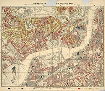 South West London Map.Charles Booth S London Poverty Map South West Central Sheet