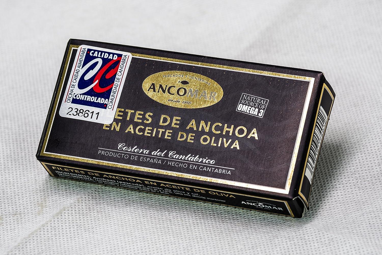 Ancomar Premium - Anchoa del Cantábrico en aceite de oliva. Estuche 50 g. - Octavillo: Amazon.es: Alimentación y bebidas