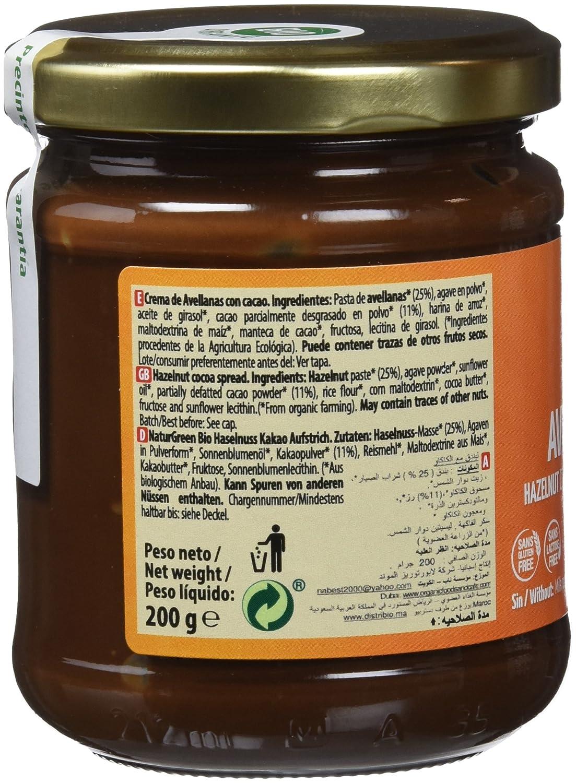 NATURGREEN CREMA AVELLANAS CHOCO SIN LECHE 200 gr: Amazon.es: Salud y cuidado personal