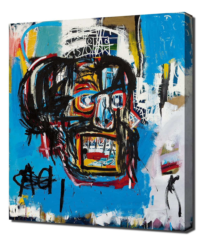 Lilarama Untitled Head - - - Jean Michel Basquiat - Art Leinwandbild - Kunstdrucke - Gemälde Wandbilder 8b95f6