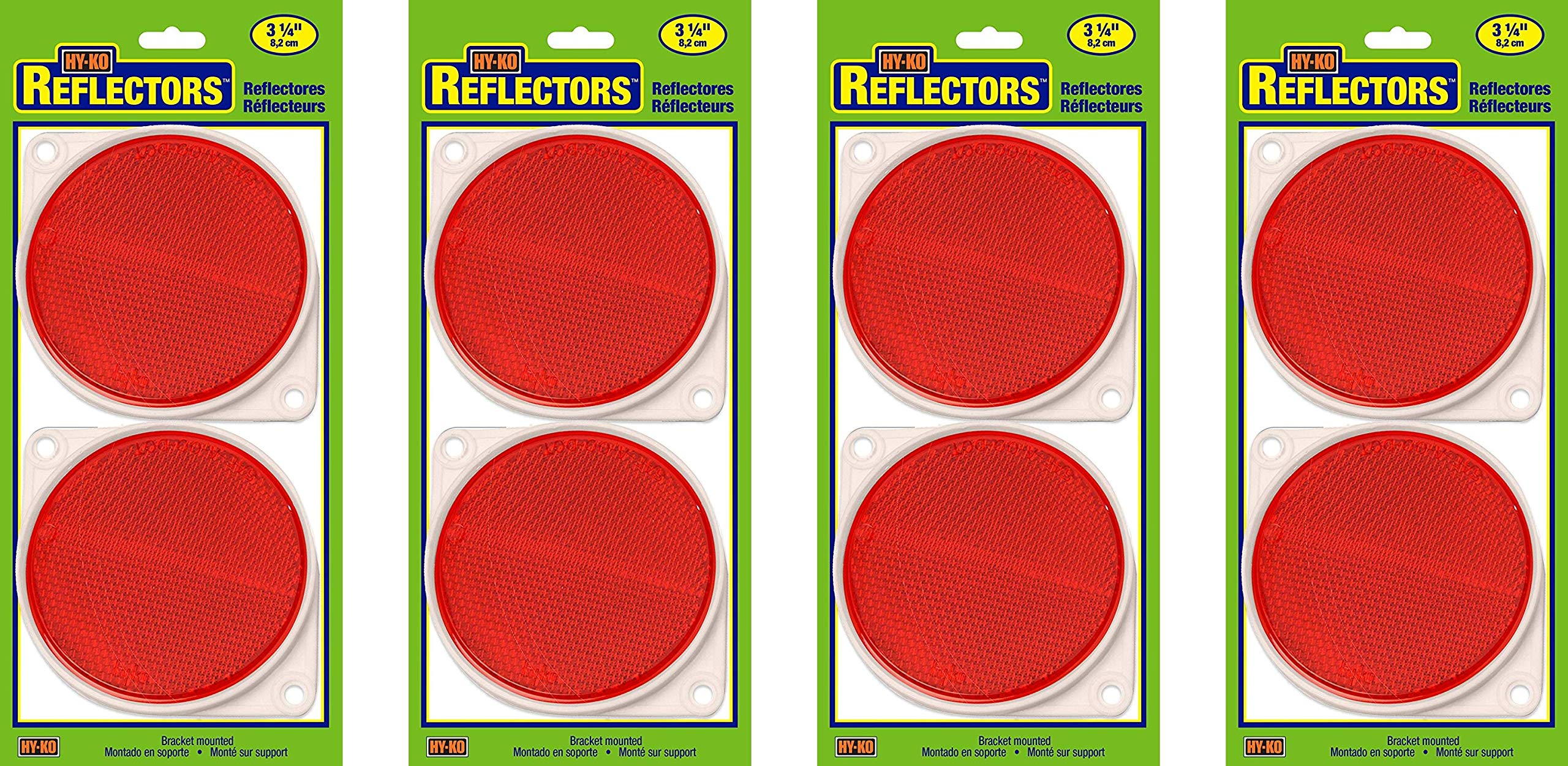 Hy-Ko Products CDRF-3R Nail On Reflector 3'' Diameter Red, 1 Piece (Red, Fоur Paсk)