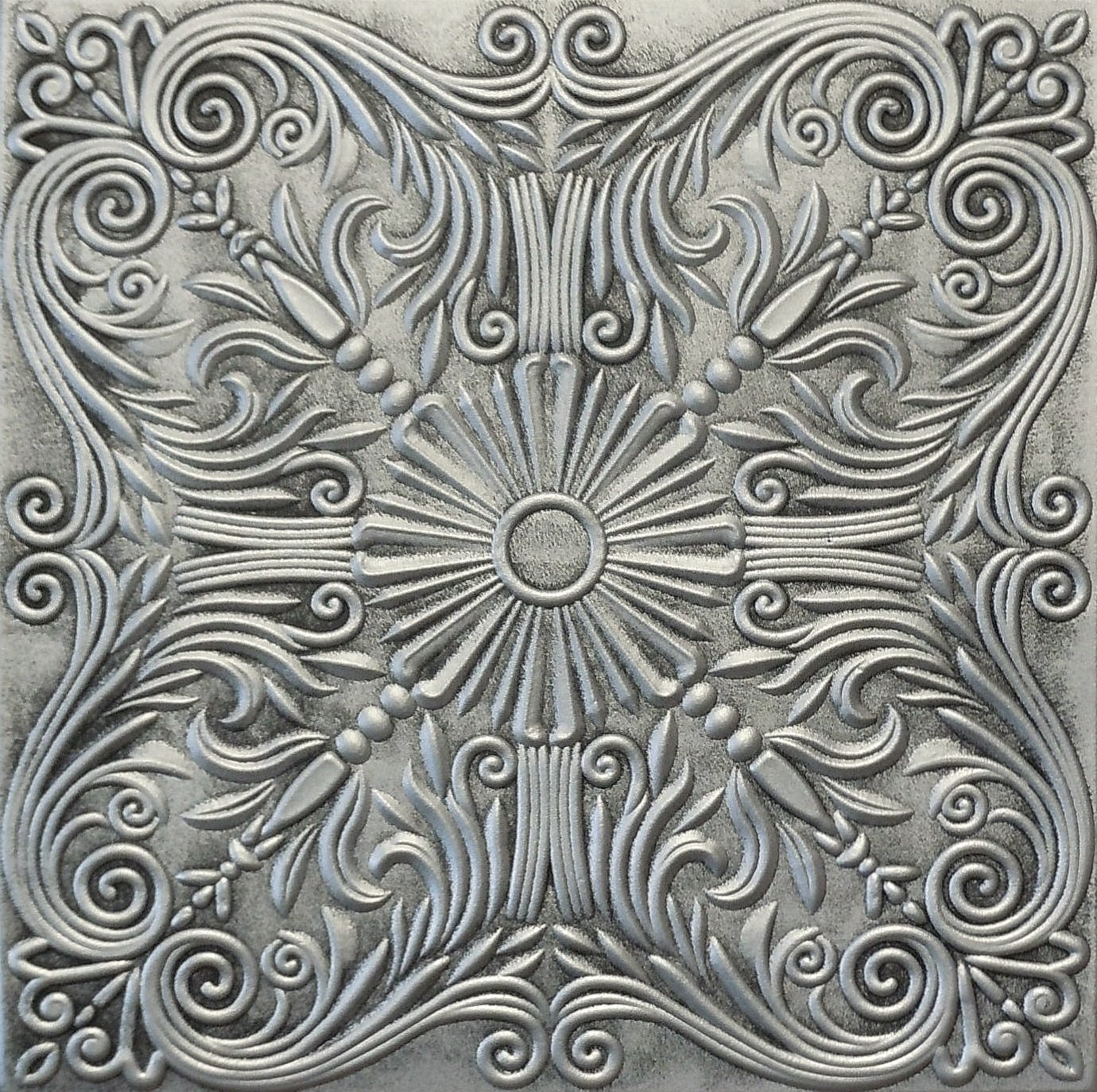 Amazon R39as Antique Silver 20x20 Amazing Styrofoam Tin Look