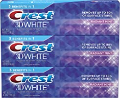 Crest 3D White Toothpaste Radiant Mint 4.8 oz (3 pack)