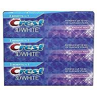Crest 3D White Toothpaste Radiant Mint 4.8 oz (3 pack)