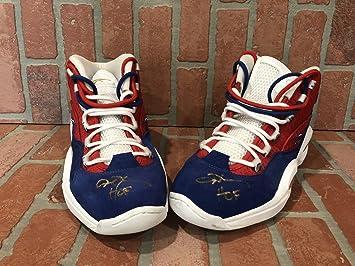 0a7a03279edb Allen Iverson autographed signed Retirement Rare Sneakers 76er s JSA ...