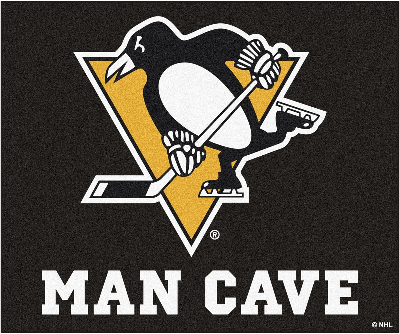 Fanmats 14480 NHL Pittsburgh Penguins Nylon Universal Man Cave Tailgater Rug
