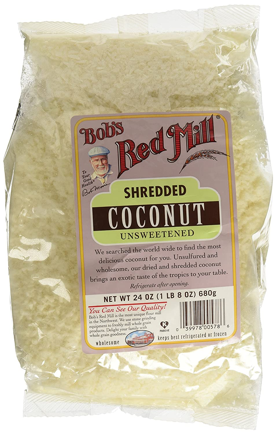 Bob's Red Mill, Medium Shredded Coconut, Unsweetened, 24 oz (680 g)