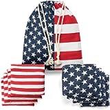 TOYSHARING Cornhole Bags Real Corn Filled Corn Hole Bean Bags American Flag Corn Hole Bags Set of 8 Regulation Cornhole…