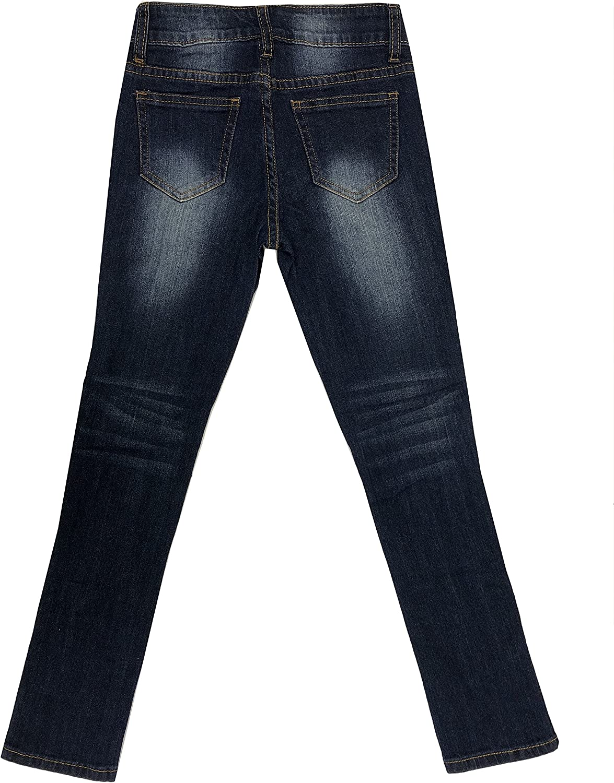 Fashion2Love Girls Kids Stretch Pockets Skinny Denim Jeans Or Shorts MLG1