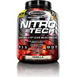 MuscleTech NitroTech Whey Protein Powder, Whey Isolate and Peptides, Vanilla, 3.97 Pound (1.80 Kg)