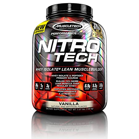 MUSCLETECH-NITRO TECH-3.97LBS-VANILLA Sports Supplements at amazon