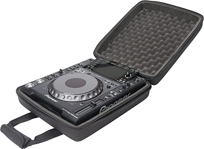 "12"" Mixer CD//J Media Players Odyssey FZGS12CDJWBL ATA Flight Case for Two 2"