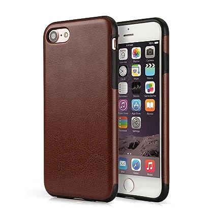 VAPIAO iphone7 de Piel Case de Nevera a Marfil marrón iPhone 8 ...