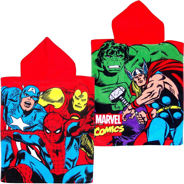 Marvel Avengers Superheroes Super Soft Cotton Hooded Poncho Bath Towel