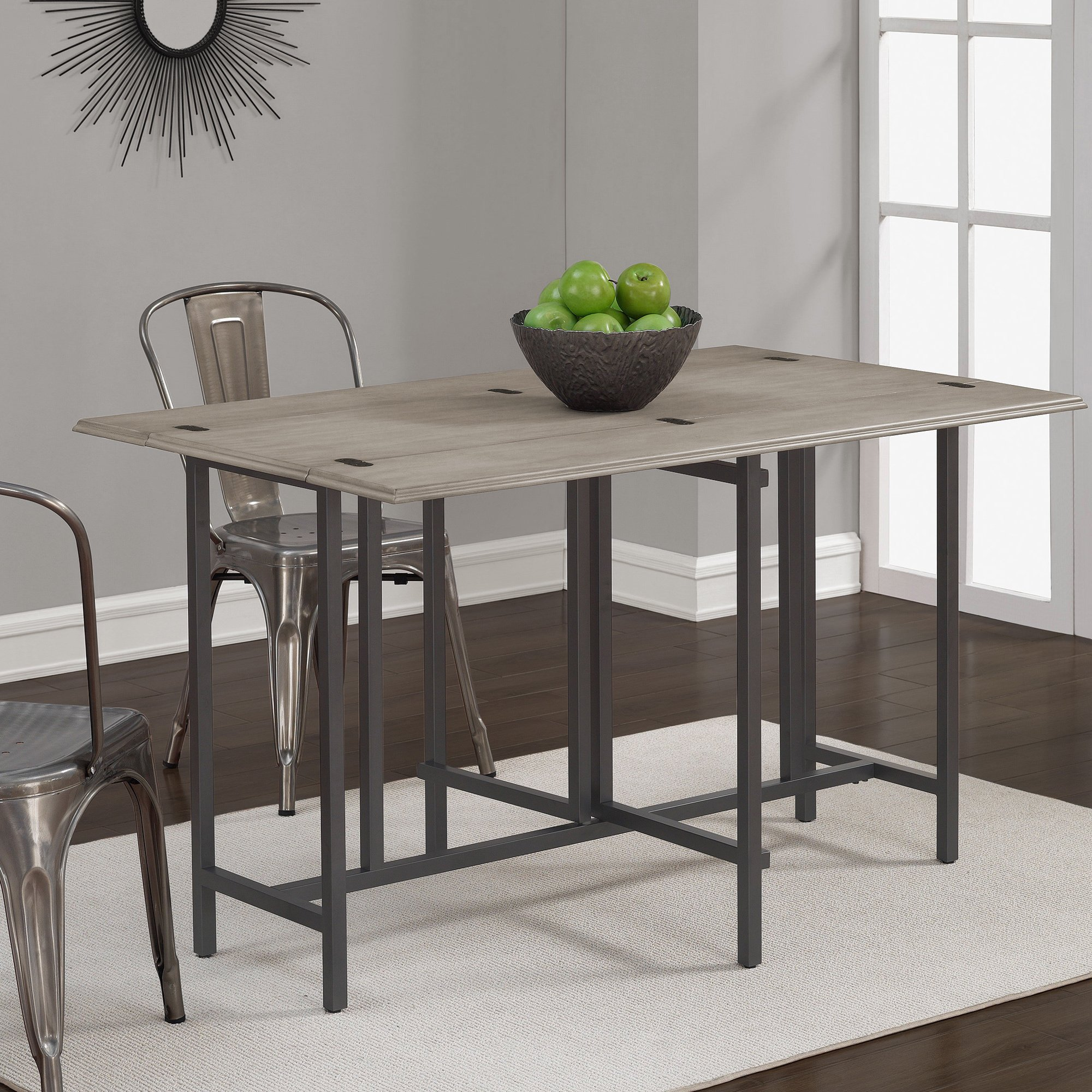 Convertible Dining Table Wood Contemporary Expandable Home Console Kitchen Table by I Love Living (Image #3)