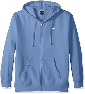 9b7b12c28f Obey Homme 111751489 Sweat - Bleu - Taille L: Amazon.fr: Vêtements ...