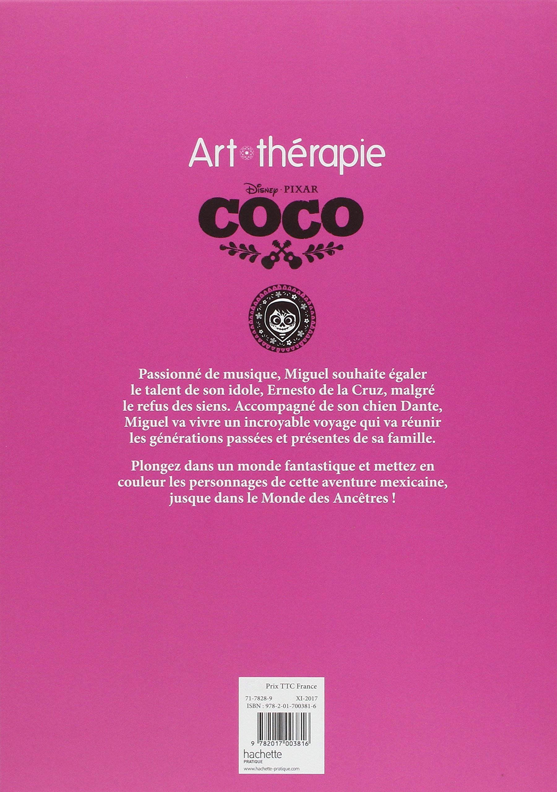 Bloc Disney Coco: 4 coloriages anti-stress (Heroes) (French