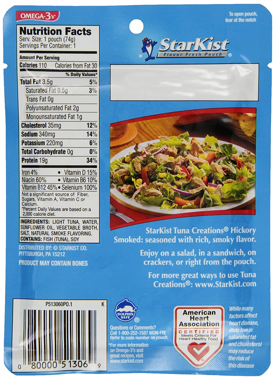 Starkist tuna packet nutrition facts nutrition ftempo for Tuna fish nutrition