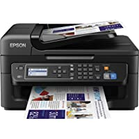 Epson Workforce WF-2630WF - Impresora multifunción de Tinta (WiFi, Pantalla LCD Monocroma retroiluminada de 5,6 cm), Color Negro, Ya Disponible en Amazon Dash Replenishment