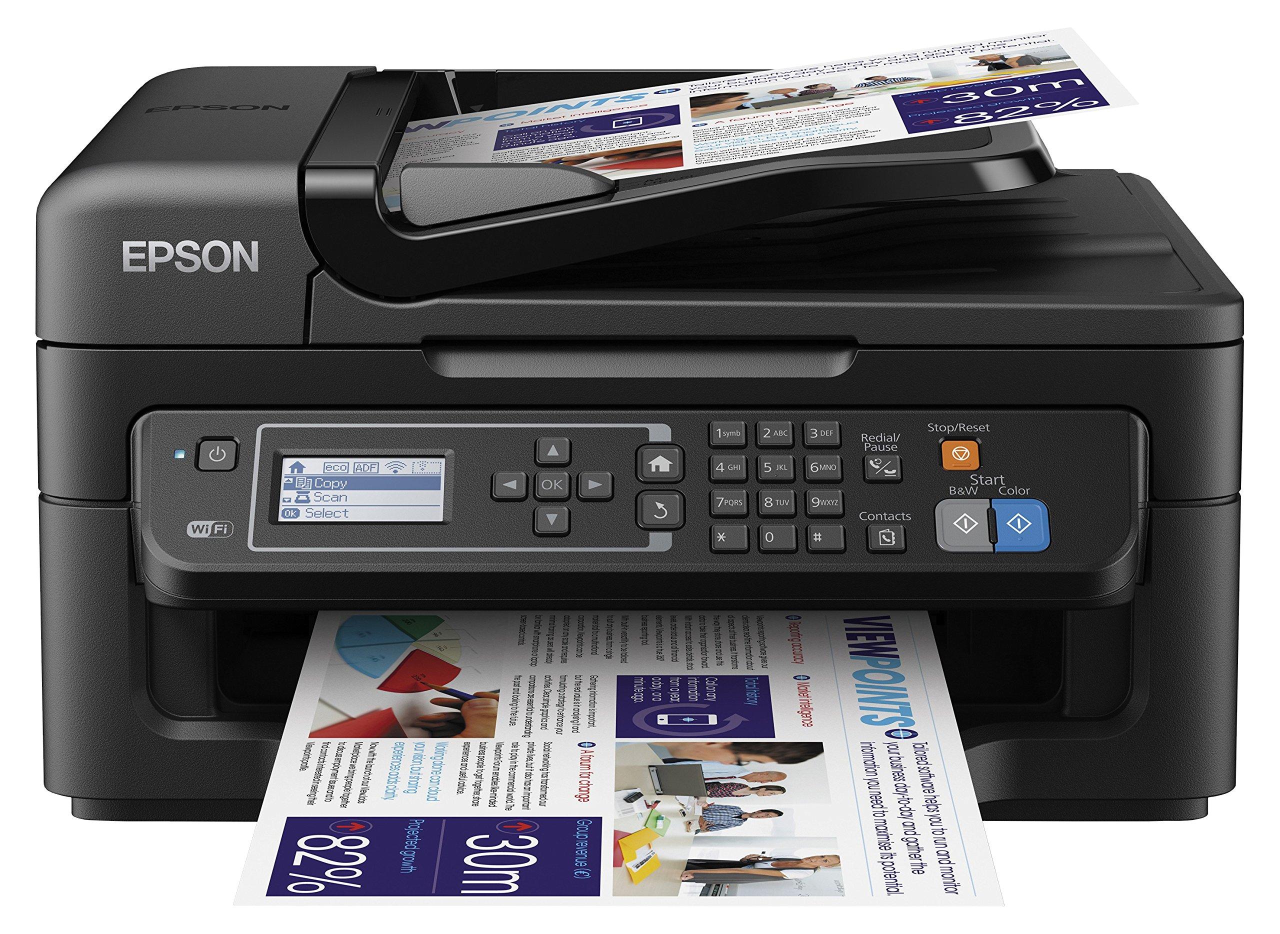 Epson Workforce WF-2630WF - Impresora multifunción de tinta (WiFi, pantalla LCD monocroma
