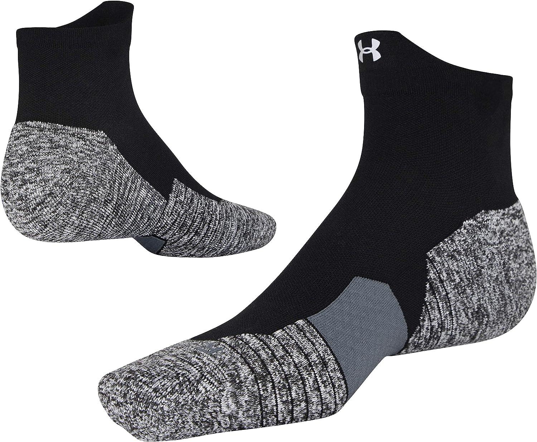 3-Pairs Black 2 Womens 9-12 Under Armour Adult Training Cotton Quarter Socks Shoe Size: Mens 8-12