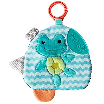 Mary Meyer Baby Einstein First Discoveries Squeezer Teether, 7-Inches, Neptune Turtle : Baby