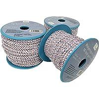 Touw op rol - 3 mm x 100 m wit/blauw/rood polypropyleen touw PP, feestmakerlijn, multifunctioneel touw, brei, lijn…
