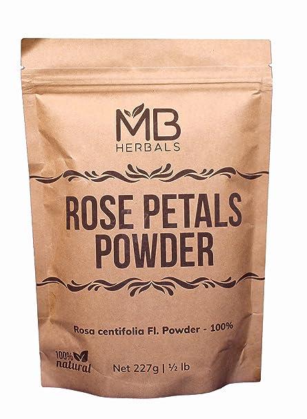 Amazon.com: MB Herbals pétalos de rosa polvo 227 g | Rosa ...
