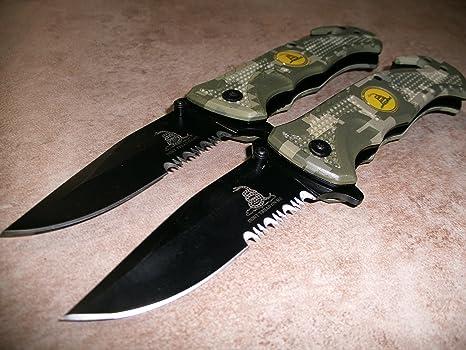 Amazon.com: 2 x 2 cuchillos tácticos de riego rogue US ...