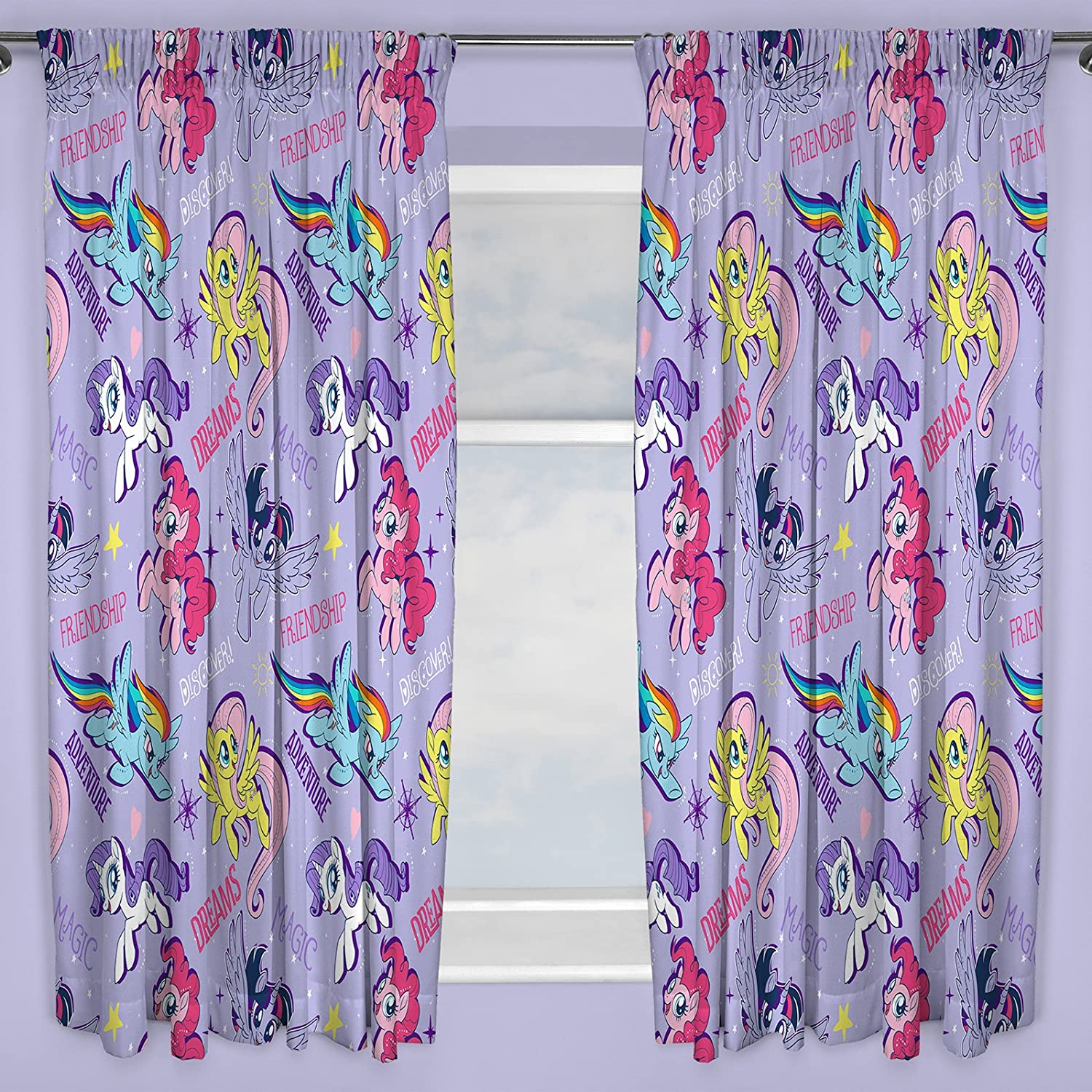 My Little Pony Movie Curtains 54 Drop Character World MLMADV54001UK