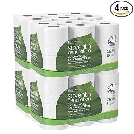 amazoncom seventh generation toilet paper bath tissue 100 recycled paper 48 double rolls health personal care