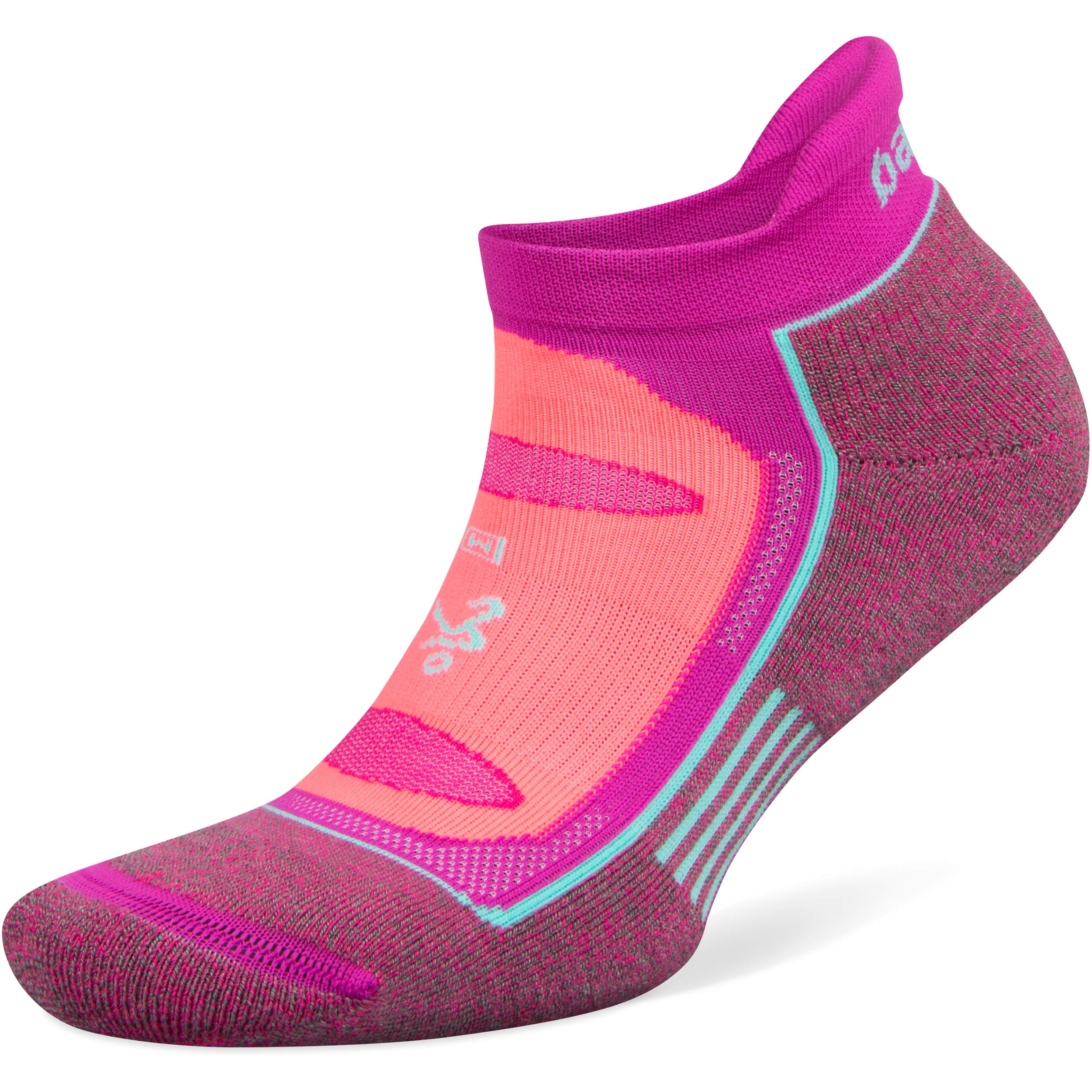 Balega Blister Resist No Show Socks for Men and Women (1 Pair), Lilac Rose/Electric Pink, Large by Balega