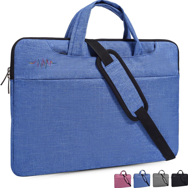 "14-15.4 Inch Laptop Bag,Man/Lady Simplicity Stylish Notebook Messenger Shoulder Bag Case Briefcase for Acer Chromebook 14"",Apple Asus Dell Samsung HP Toshiba Lenovo Notebook Protective Case,Light Blue"
