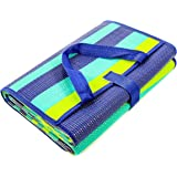 "Camco Handy Mat with Strap, Perfect for Picnics, Beaches, RV and Outings, Weather-Proof and Mold/Mildew Resistant (Green/Turquoise - 60"" x 78"") (42806)"