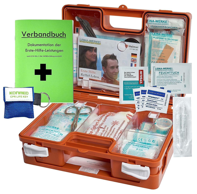 Erste-Hilfe-Koffer Quick mit\'Notfallbeatmungshilfe\' fü r Betriebe DIN/EN 13157 + DIN 13164 fü r KFZ HM Arbeitsmedizin EHK-Q-NBH