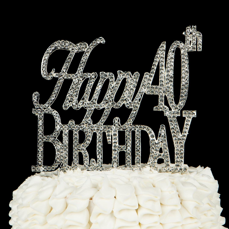 Amazon Happy 40th Birthday Cake Topper 40 Party Supplies