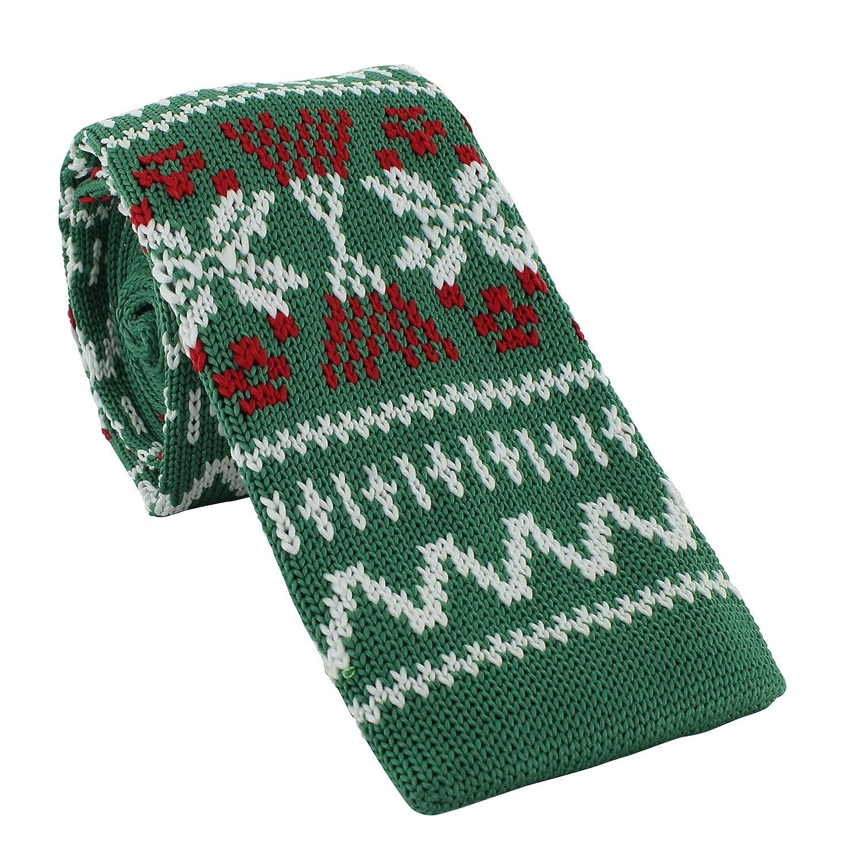 Michelsons of London Corbata de punto de Navidad Verde Green, Red ...