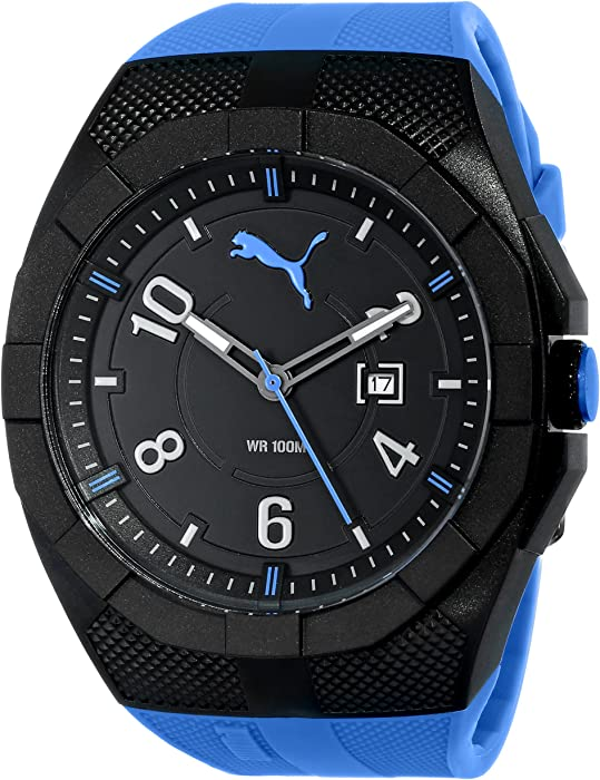 Amazon.com  Puma Men s PU103501004 Watch with Blue Band  Puma  Watches 20542fdf7