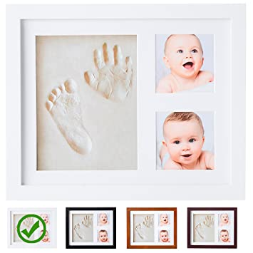 Baby handprint kit by little hippo video inside clay baby picture frame white