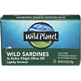 Wild Planet, Wild Sardines In Extra Virgin Olive Oil, 4.4 Ounce