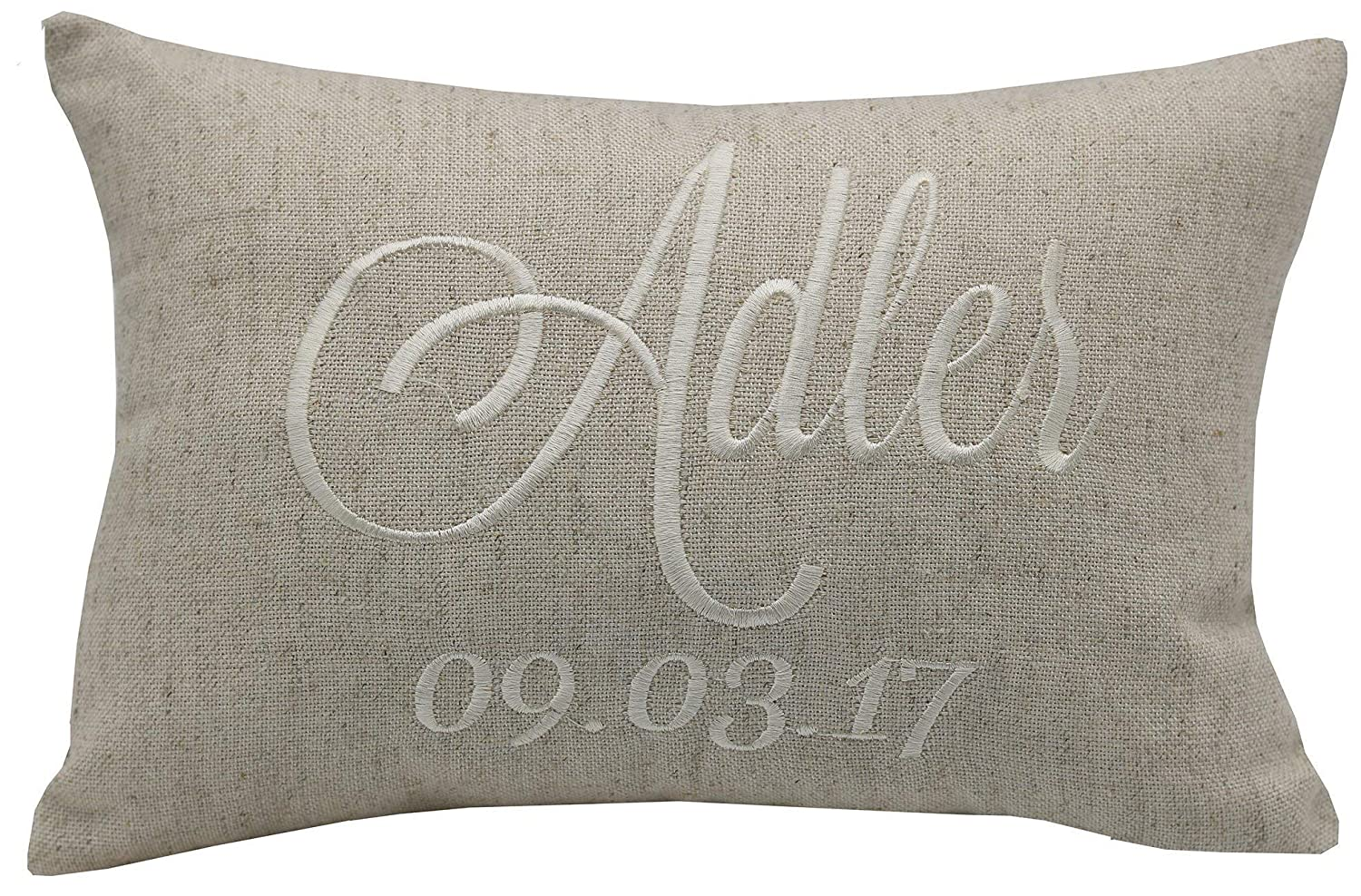 Rustic Wedding Gift Wedding Date Gift Engagement Gift Newlywed Gift Wedding Date Sign Family Name Bride Gift for her YugTex Pillowcases Wedding Gift Christmas Gifts.