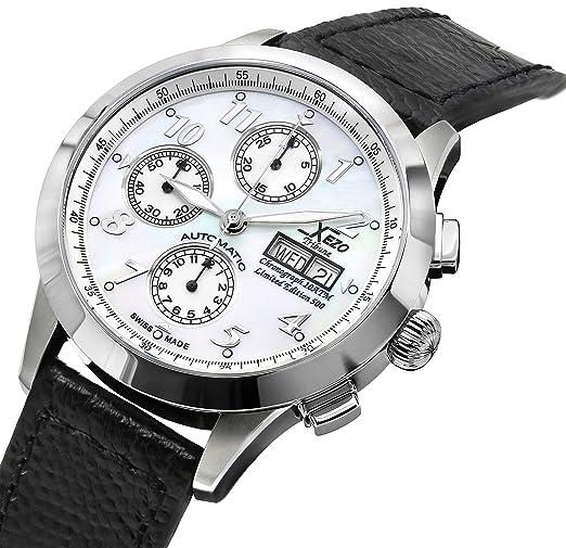 Reloj cronógrafo automático Xezo para hombre, hecho en Suiza Valjoux 7750. 10 ATM resistente al agua: Xezo: Amazon.es: Relojes