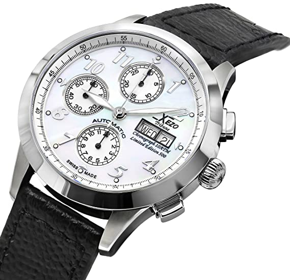 4eef9246402 Orologio cronografo automatico da uomo Xezo Valjoux 7750 Tribune di  fabbricazione svizzera. Resistente all